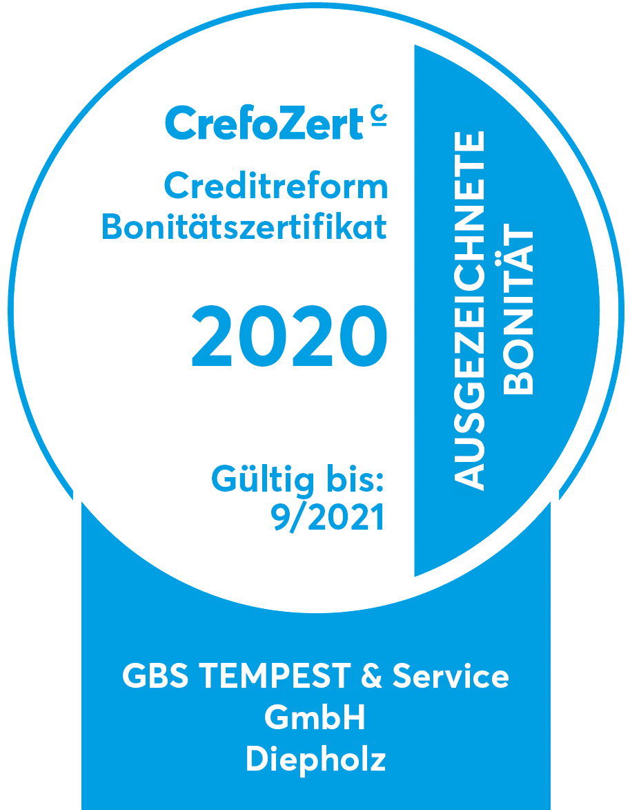 CrefoZert 2019 | Creditreform Bonitätszertifikat
