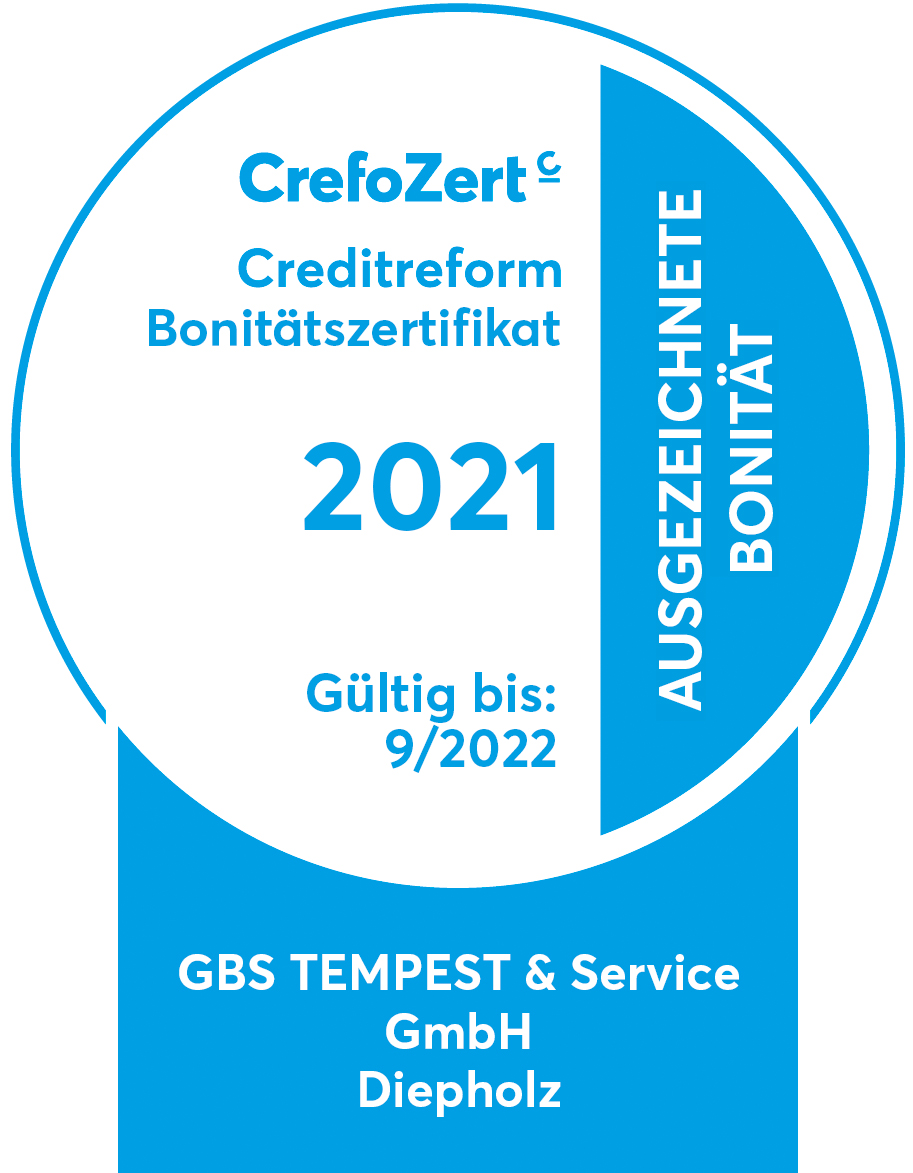 CrefoZert 2021 | Creditreform Bonitätszertifikat